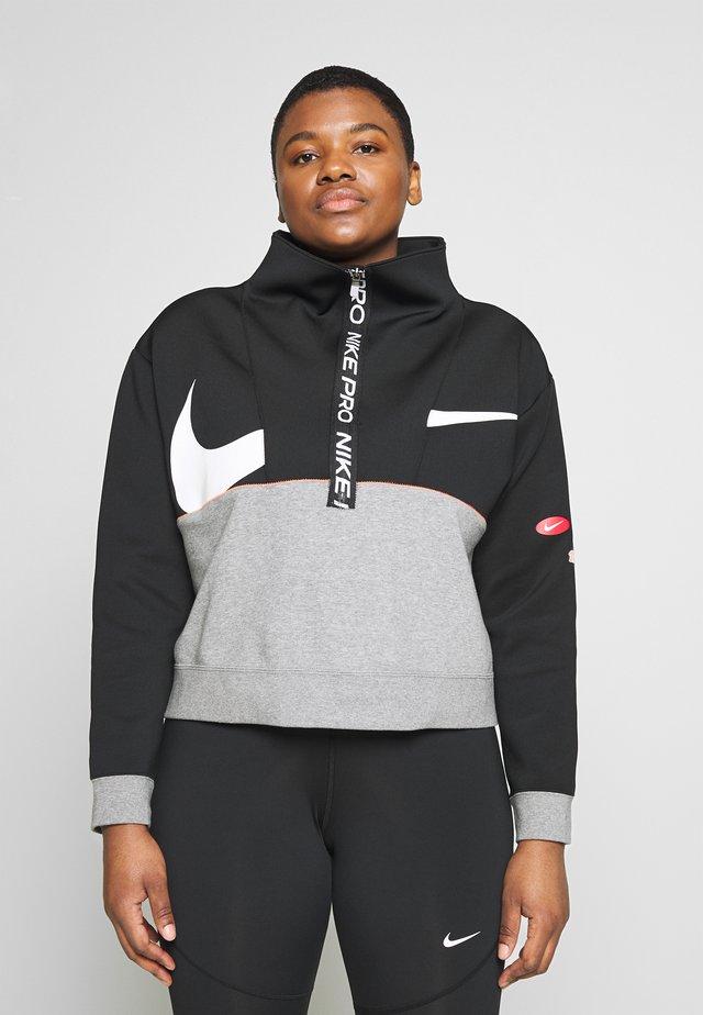 DRY IN PLUS - Sweatshirts - black/carbon heather/white