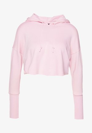 YOGA LUXE CROP HOODIE - Hoodie - barely rose/plum chalk