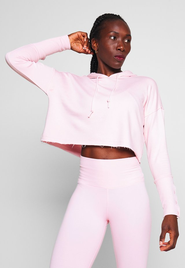 YOGA LUXE CROP HOODIE - Mikina skapucí - barely rose/plum chalk