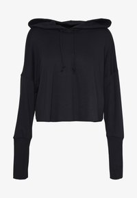 Nike Performance - YOGA LUXE CROP HOODIE - Jersey con capucha - black - 4