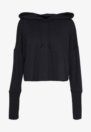 YOGA LUXE CROP HOODIE - Jersey con capucha - black