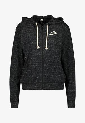 GYM VINTAGE MIT KAPUZE - veste en sweat zippée - black