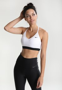 Nike Performance - INDY BRA - Sport BH - white/black/black - 0