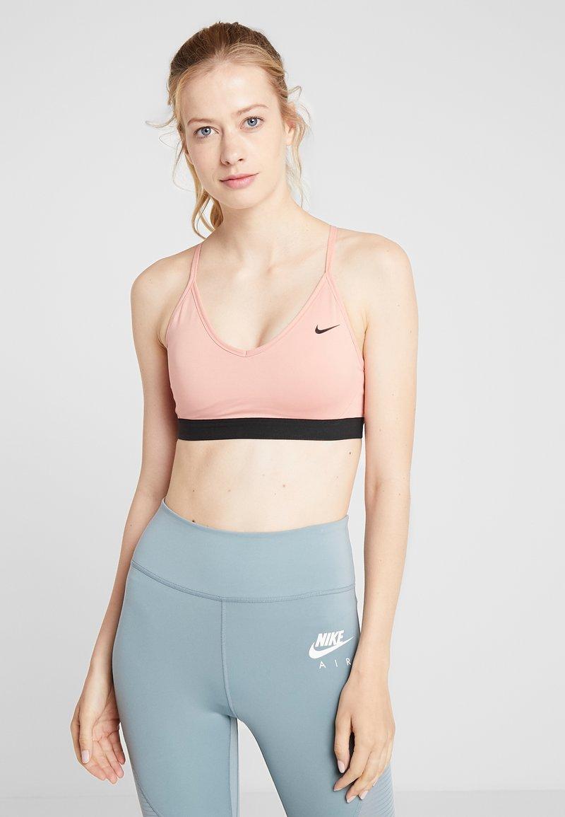 Nike Performance - INDY BRA - Sports bra - pink quartz/black