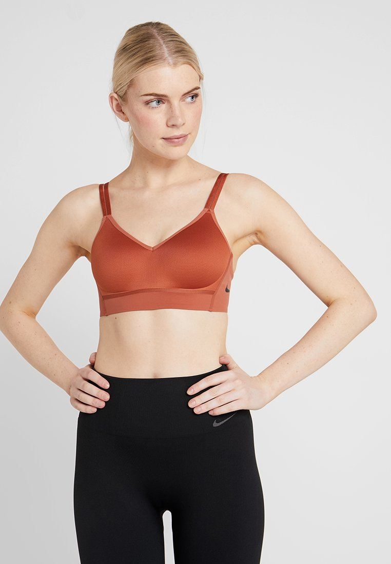 Nike Performance - INDY BREATHE BRA - Reggiseno sportivo - dusty peach/black