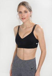 Nike Performance - INDY BREATHE BRA - Sports-bh'er - black/white - 0