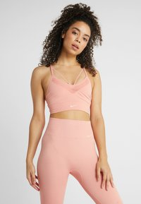 Nike Performance - SEAMLESS LIGHT BRA - Sports bra - pink quartz/white - 0