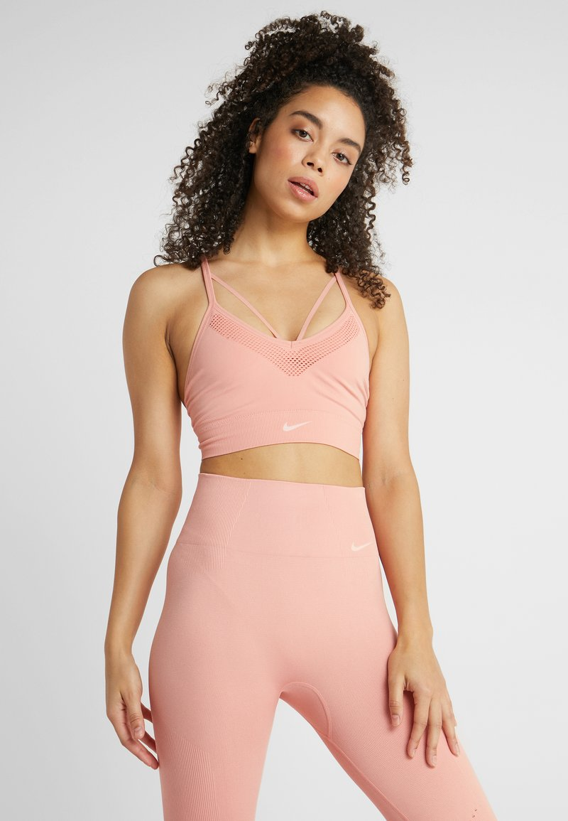Nike Performance - SEAMLESS LIGHT BRA - Sports bra - pink quartz/white