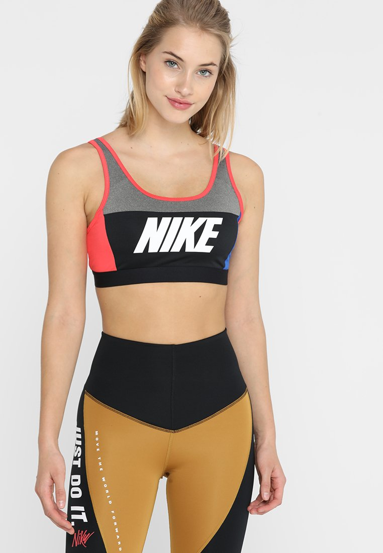 Nike Performance - ICON CLASH CLASSIC BRA MEDIUM SUPPORT - Sports-bh'er - carbon heather/game royal/ember glow/white black
