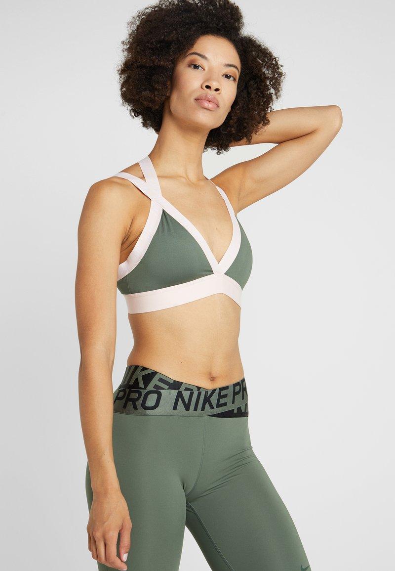 Nike Performance - INDY LOGO BRA - Sport BH - juniper fog/echo pink/white