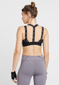 Nike Performance - INDY LOGO BRA - Sport-bh - black/black/cool grey - 2