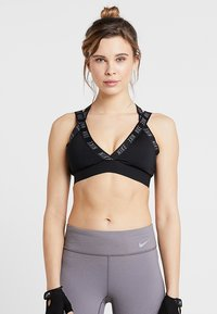 Nike Performance - INDY LOGO BRA - Sport-bh - black/black/cool grey - 0
