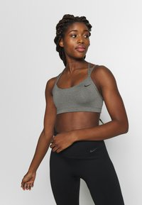 Nike Performance - FAVORITES STRAPPY BRA - Urheiluliivit - carbon heather/black - 0