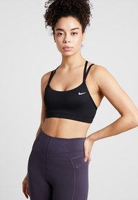 Nike Performance - FAVORITES STRAPPY BRA - Sports bra - black/white - 0
