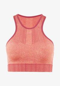 Nike Performance - CITY SEAMLESS BRA - Sport-bh - cedar/pink quartz/reflective silver/black - 6
