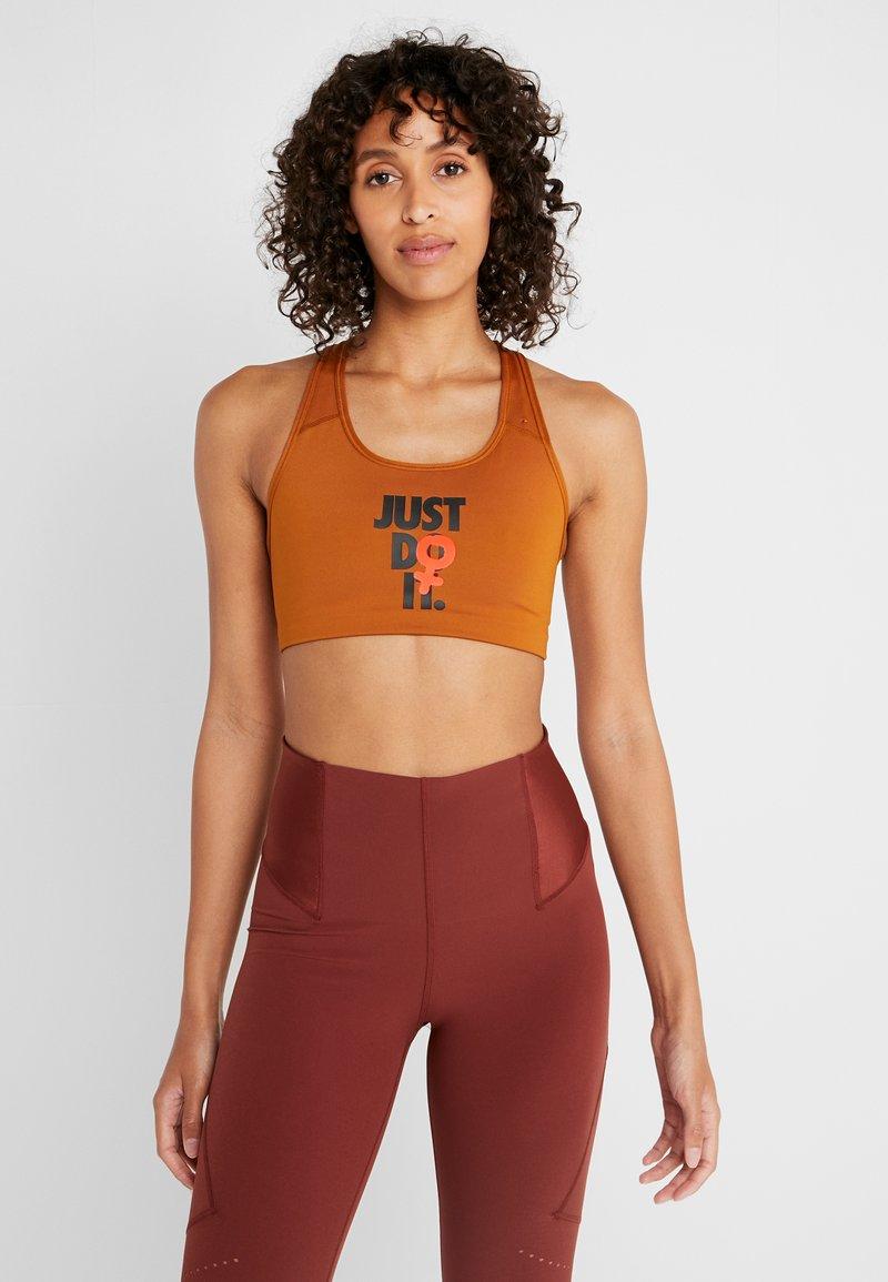 Nike Performance - Sports-bh'er - burnt sienna/black
