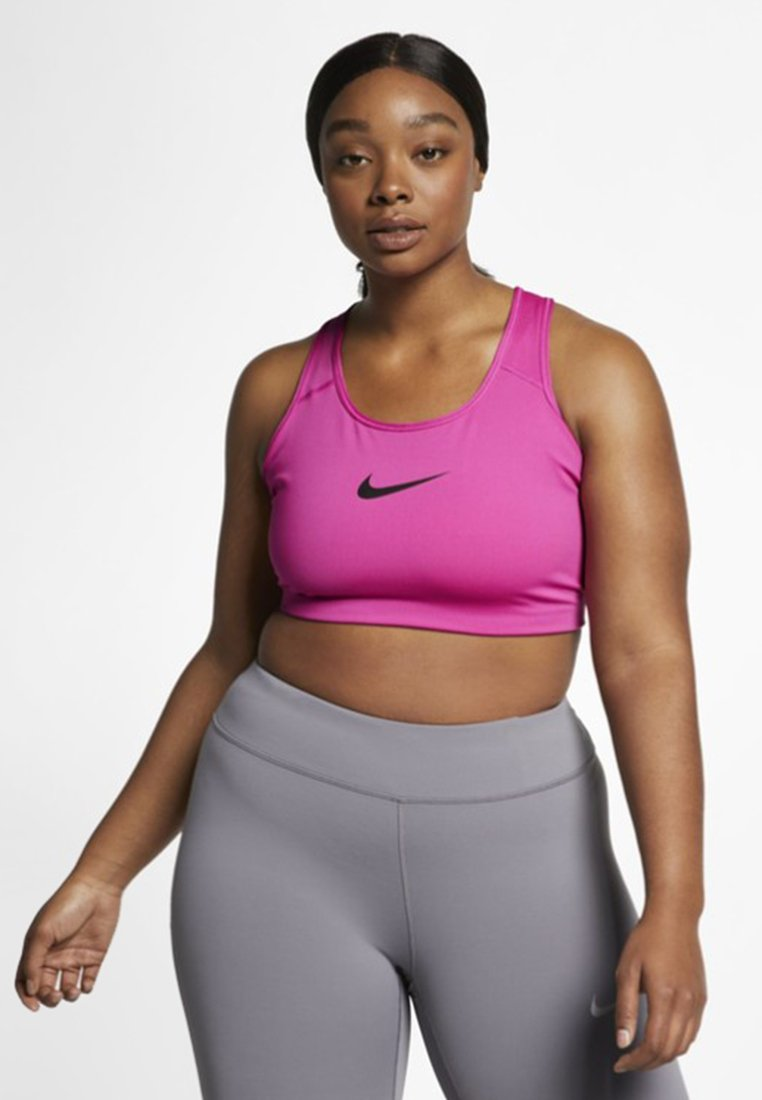 Nike Performance - PLUS SIZE BRA - Bustier - fuchsia/black
