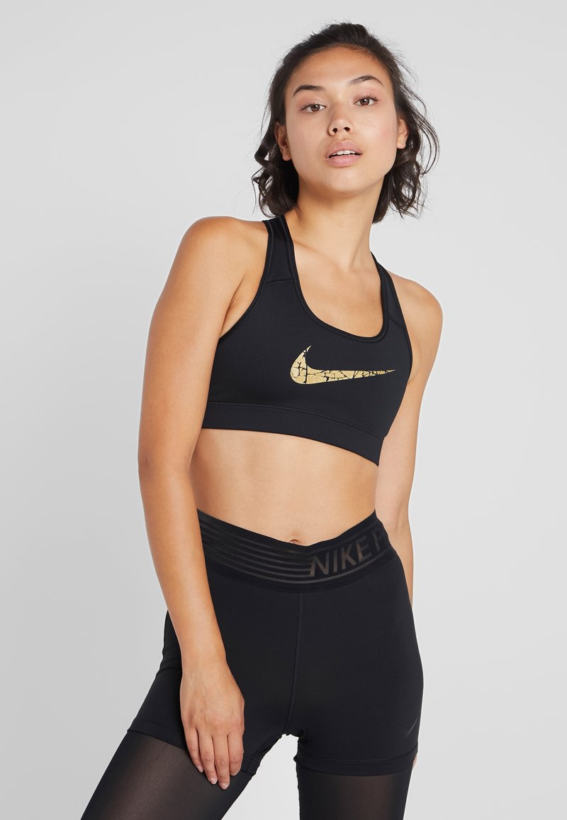 Nike Performance - VICTORY COMP BRA - Soutien-gorge de sport - black/metallic gold