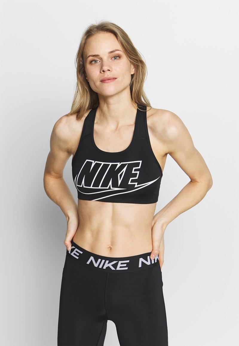 Nike Performance - MED FUTURA - Sports bra - black/white