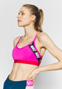 Nike Performance - INDY  - Sports bra - fire pink/track red/white - 3