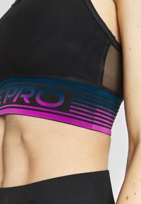 Nike Performance - PAD BRA - Sports bra - black/cerulean/white - 4