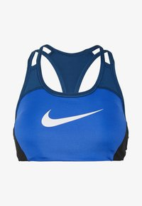 Nike Performance - NIKE MED PAD LOGO BRA - Sujetador deportivo - game royal/valerian blue/black - 4