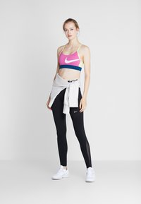 Nike Performance - BRA LIGHT - Sports bra - cosmic fuchsia/valerian blue/limelight/white