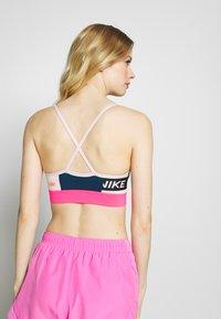 Nike Performance - BRA LIGHT - Sports bra - valerian blue/hyper pink/barely rose - 2