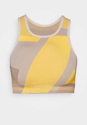 SEAMLESS BRA - Sports bra - pale ivory/laser orange/sapphire