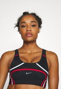 Nike Performance - ULTRABREATHE BRA - Sports bra - black/white/university red - 3