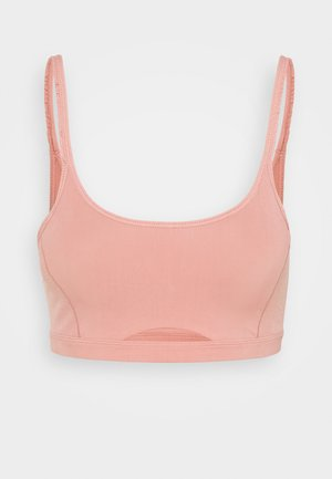 INDY LUXE YOGA BRA - Sports bra - rust pink/particle beige