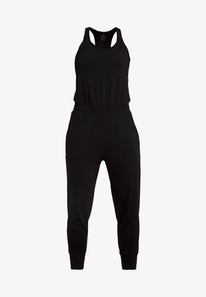 YOGA JUMPSUIT - Tracksuit - black/dark smoke grey