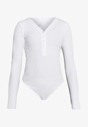 YOGA LUXE HENLEY BODYSUIT - Body deportivo - summit white