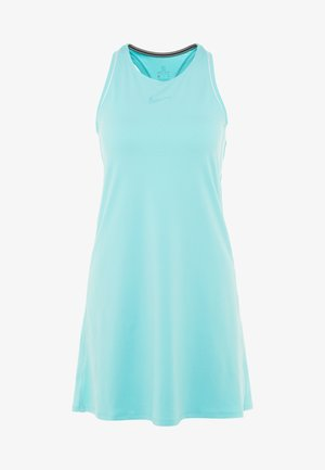 DRY DRESS - Jurken - light aqua/white