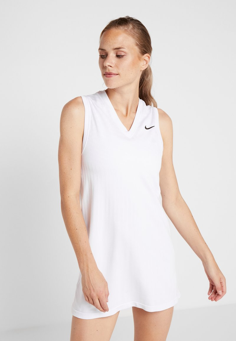 Nike Performance - MARIA DRESS  - Sportkleid - white/black