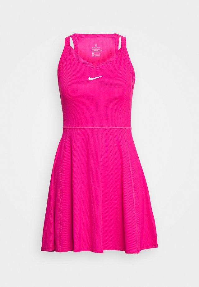 DRY DRESS - Sportovní šaty - vivid pink/white