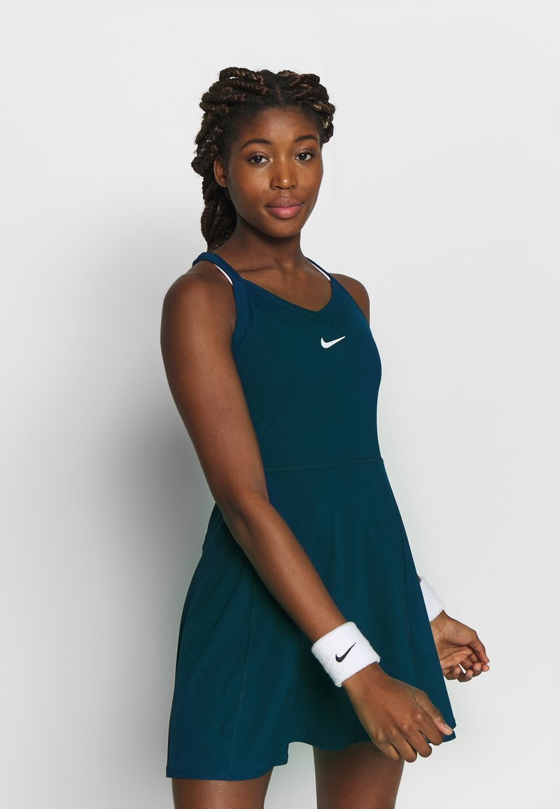 Nike Performance - DRY DRESS - Sports dress - valerian blue/white