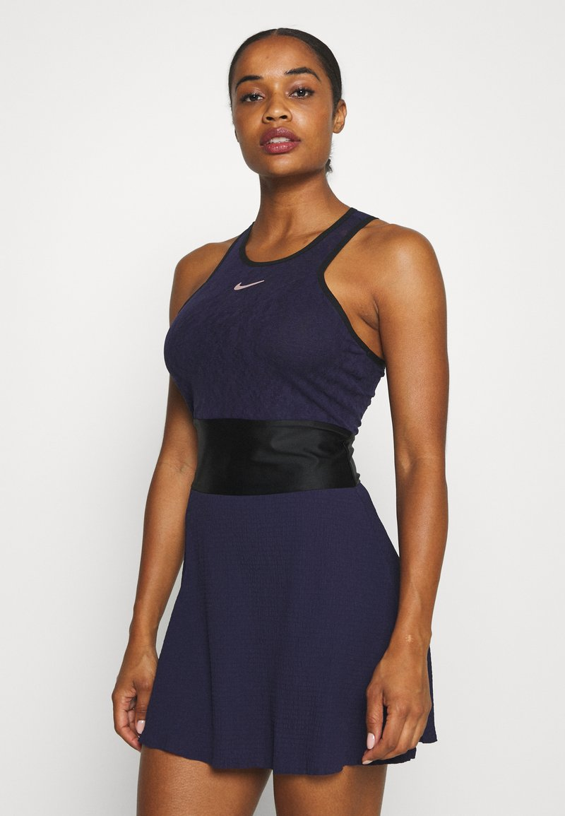 Nike Performance - MARIA DRESS - Sports dress - blackened blue/black/stone mauve