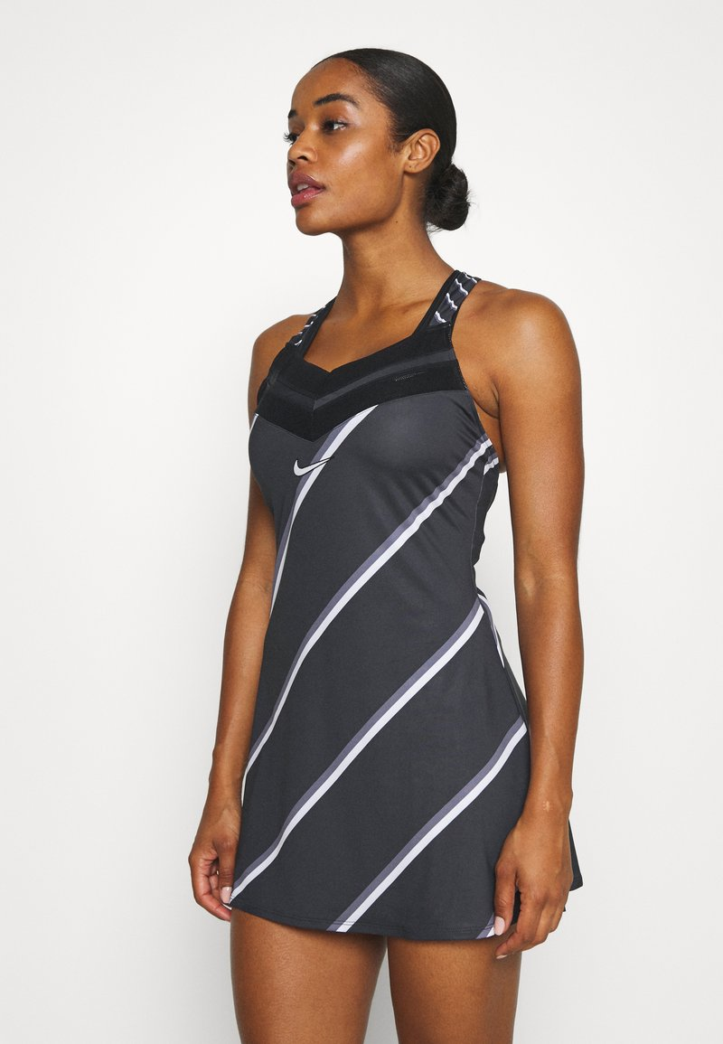 Nike Performance - DRESS - Sports dress - black/white