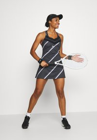 Nike Performance - DRESS - Sports dress - black/white - 1