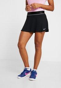Nike Performance - FLOUNCY SKIRT - Sports skirt - black/white - 0