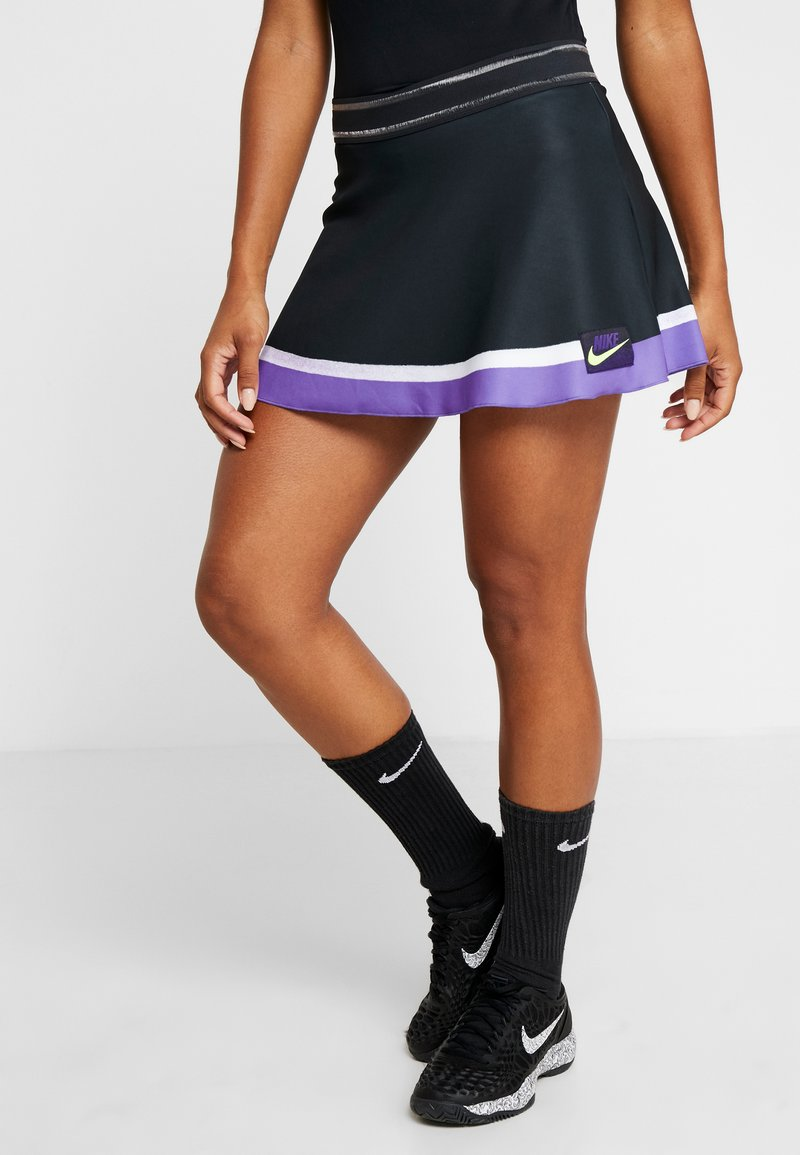 Nike Performance - SLAM SKIRT - Sportrock - off noir/court purple/white/volt