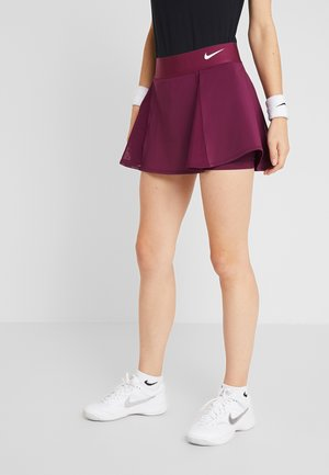 FLOUNCY SKIRT - Gonna sportivo - bordeaux/white