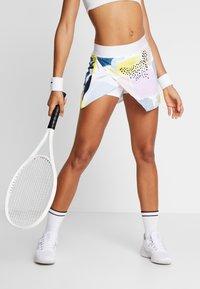 Nike Performance - WRAP SKIRT - Sports skirt - white/black - 0