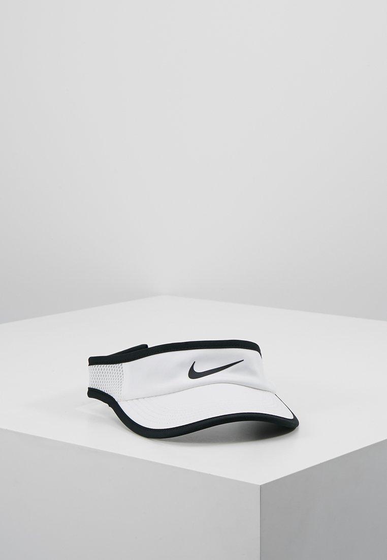 Nike Performance - WOMEN AEROBILL FEATHERLIGHT VISOR ADJUSTABLE - Cap - white/black
