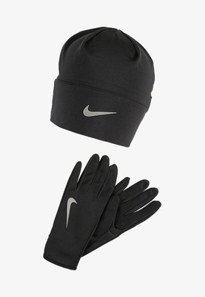WOMENS RUN DRY HAT AND GLOVE SET - Fingervantar - black/black/silver