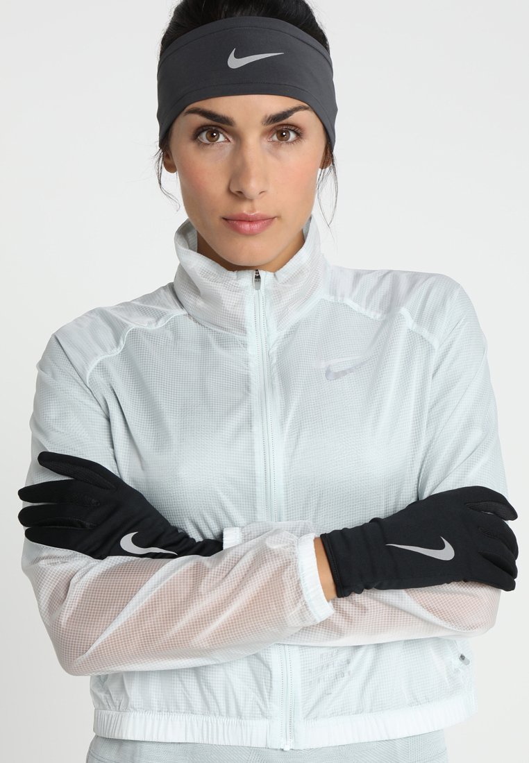 Nike Performance - WOMENS RUN DRY HEADBAND AND GLOVE SET - Cache-oreilles - black/anthracite/silver