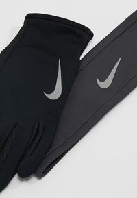 Nike Performance - WOMENS RUN DRY HEADBAND AND GLOVE SET - Cache-oreilles - black/anthracite/silver - 7
