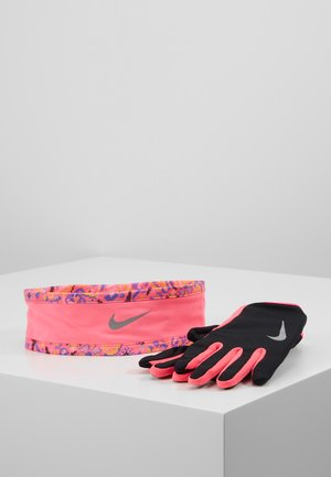WOMENS RUN DRY HEADBAND AND GLOVE SET - Oorwarmers - black/hyper pink/silver