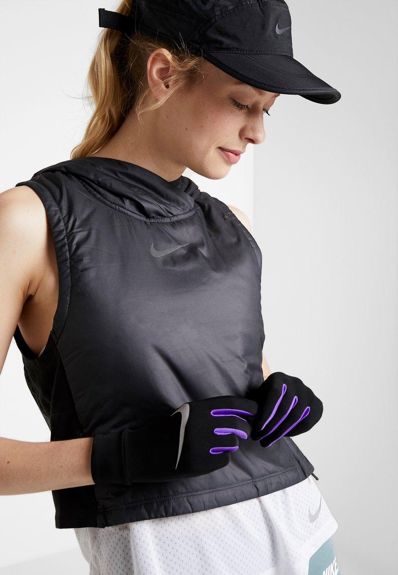 Nike Performance - LIGHTWEIGHT TECH GLOVES - Guantes - black/psychic purple/silver
